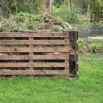13475952 - wooden composter for organic waste in a garden