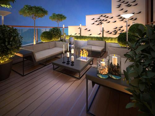 Idyllische Idee: Beheizbare Gartenmöbel aus Beton