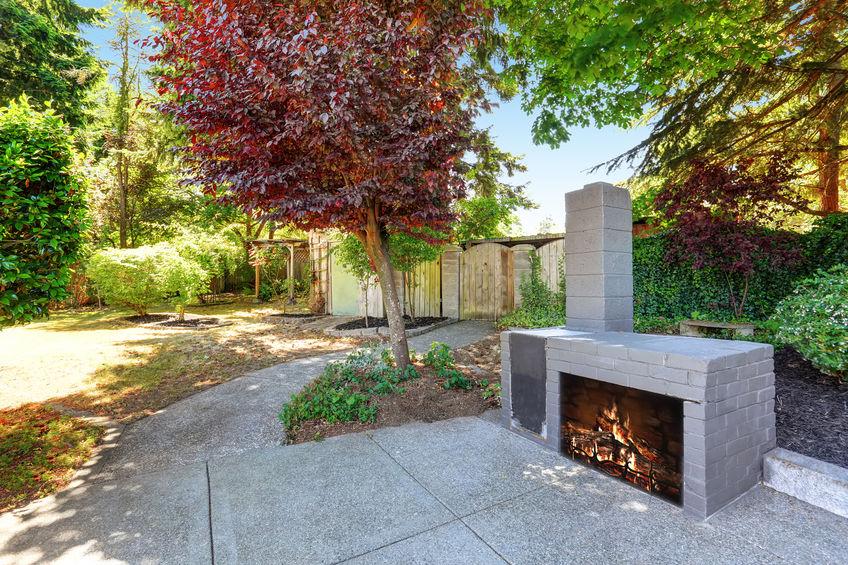 Feuerstelle im Garten